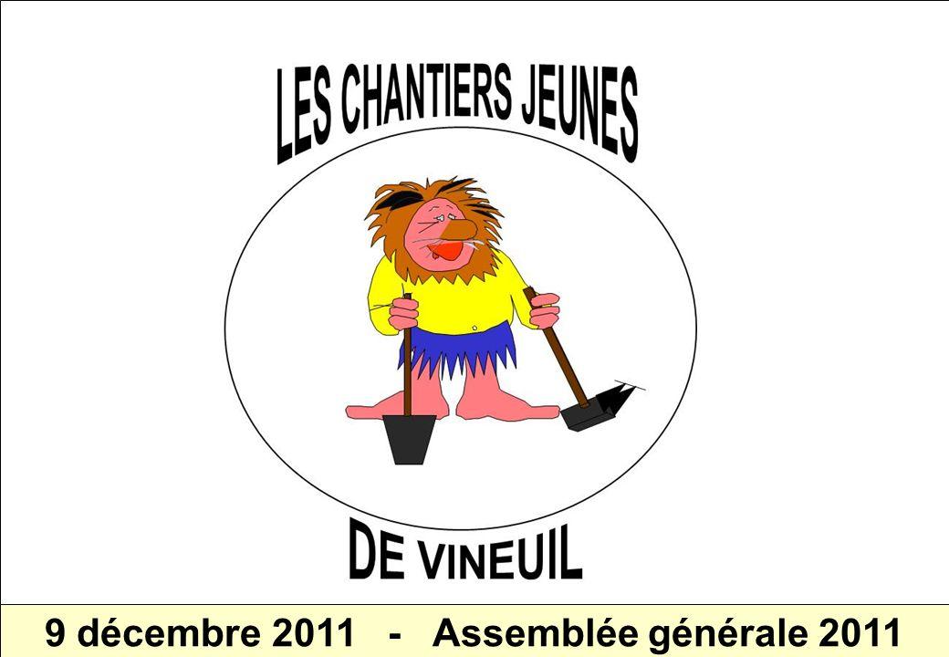 CHANTIERS JEUNES de VINEUIL - Assemblée générale 2011 1 9 décembre 2011 - Assemblée générale 2011