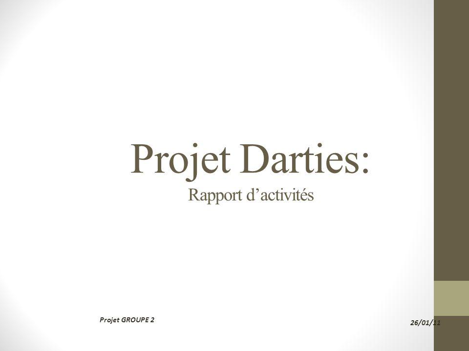 Projet Darties: Rapport dactivités Projet GROUPE 2 26/01/11