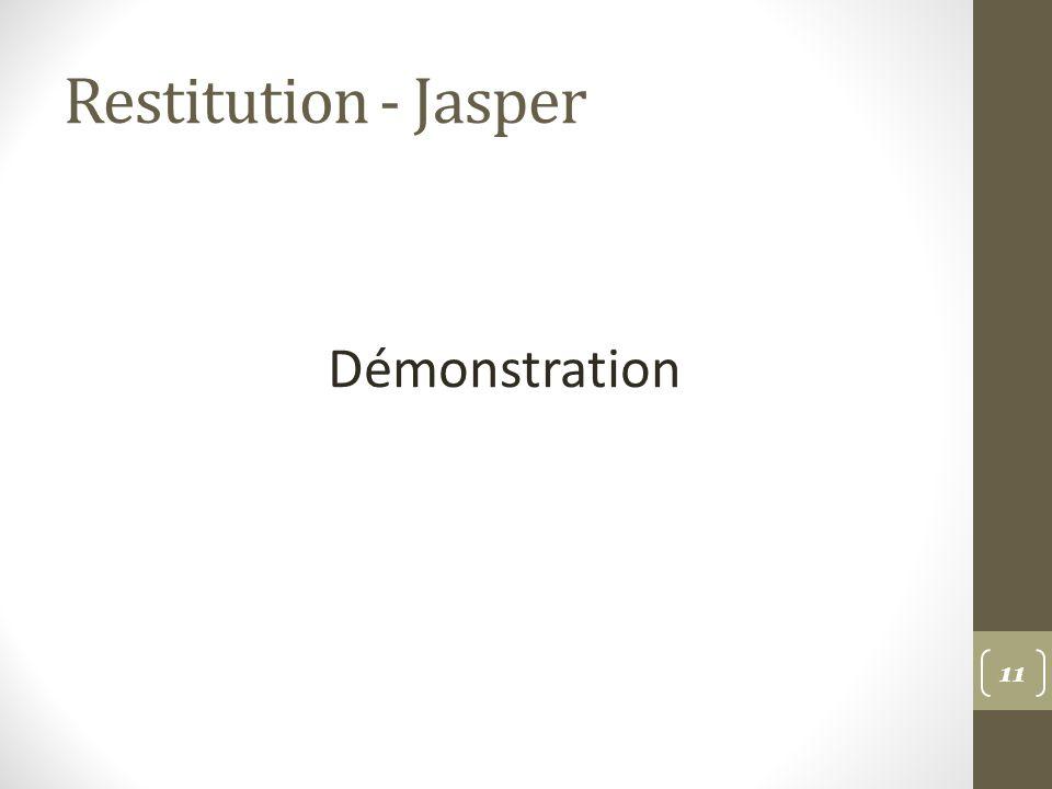 Restitution - Jasper Démonstration 11