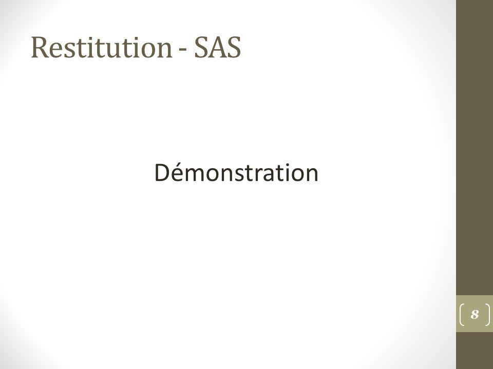 Restitution - SAS Démonstration 8