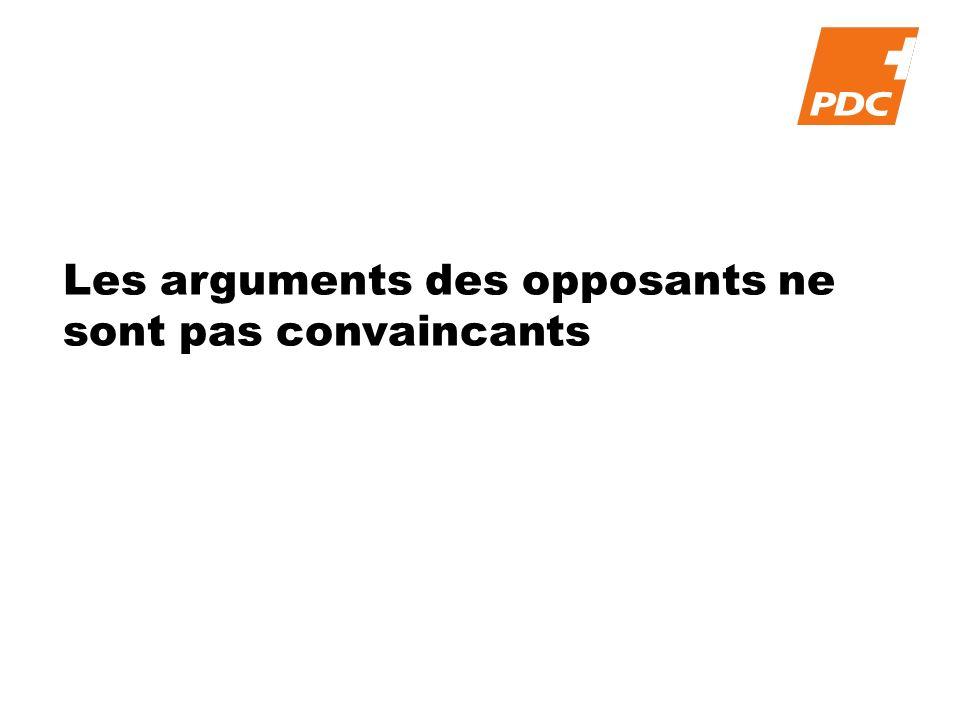 Les arguments des opposants ne sont pas convaincants