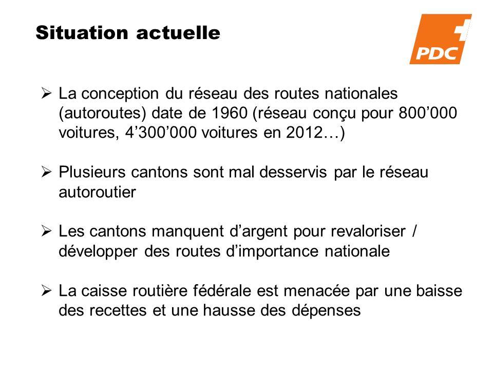 Situation actuelle La conception du réseau des routes nationales (autoroutes) date de 1960 (réseau conçu pour 800000 voitures, 4300000 voitures en 201
