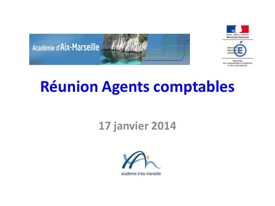 Réunion Agents comptables 17 janvier 2014