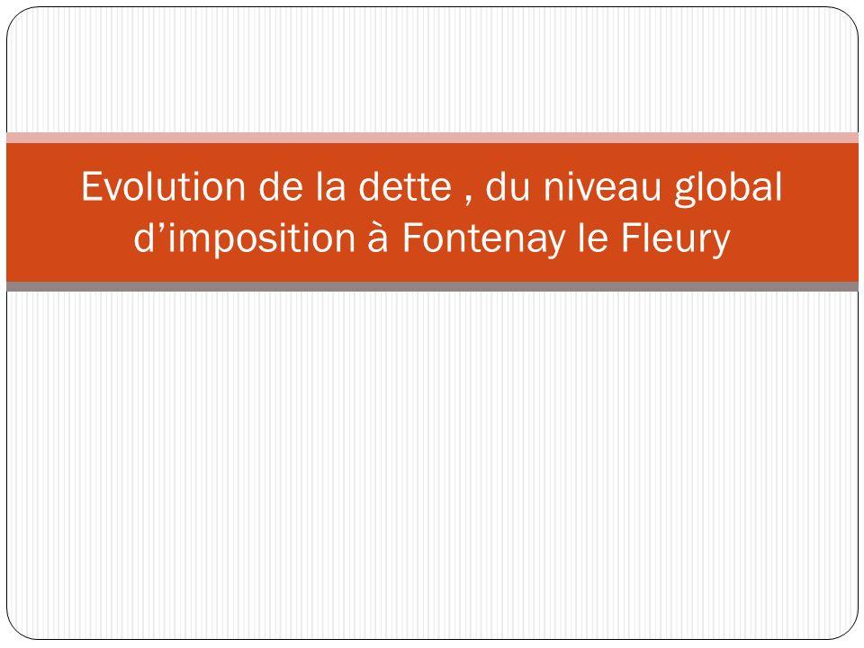 Evolution de la dette, du niveau global dimposition à Fontenay le Fleury