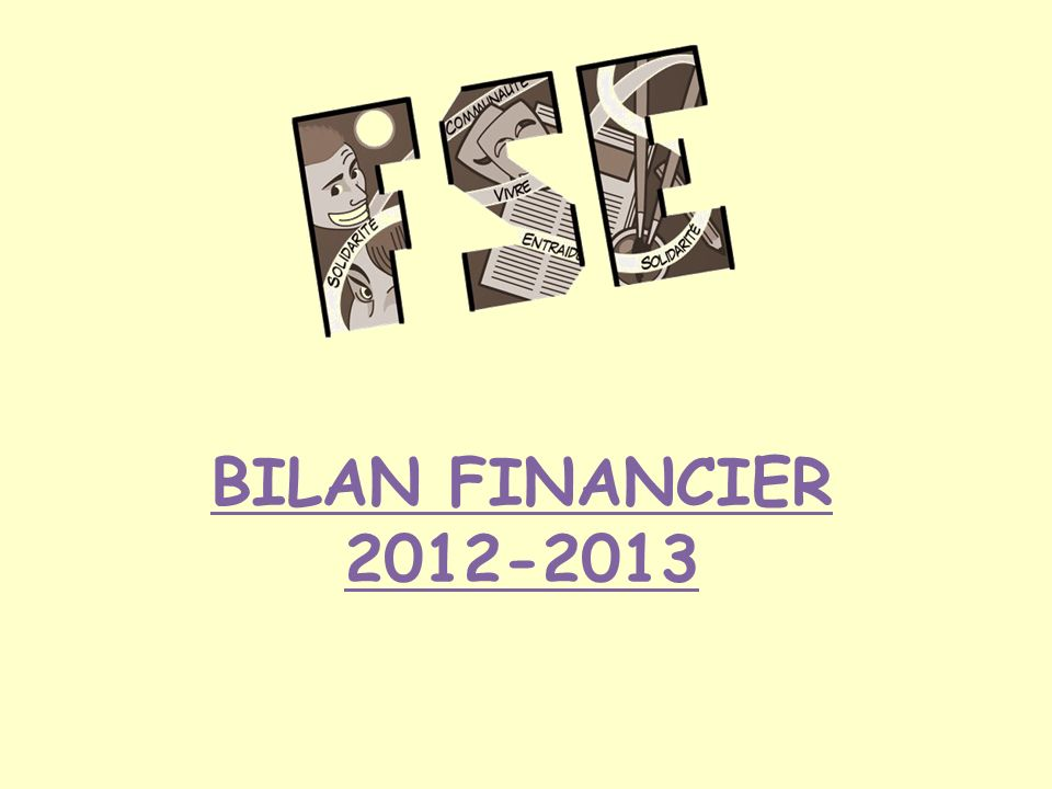 BILAN FINANCIER 2012-2013