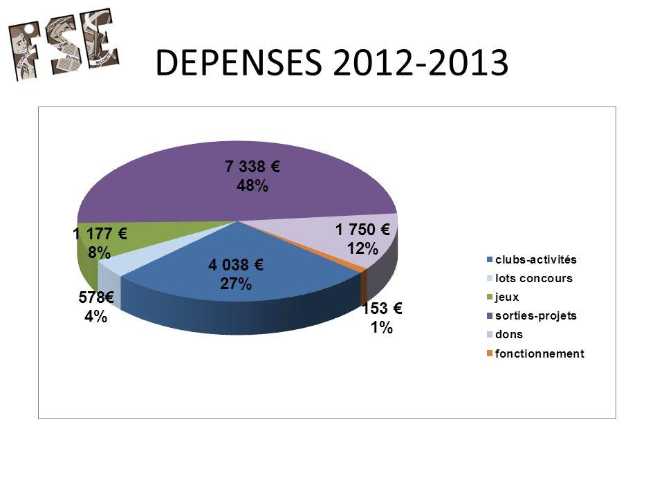 DEPENSES 2012-2013