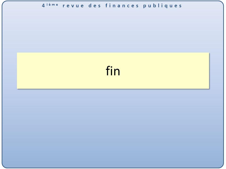 4 ième revue des finances publiques Plan daction proposé par la mission 2011 Axe PERENNITE DU SI ACTUEL 1.Mettre en place une application unique préparation et exécution du budget [à prévoir en 2014] 2.Informatiser enregistrement des recettes budgétaires et les autres dépenses [à prévoir en 2014] 3.Mettre en œuvre SIGMAP [En cours] 4.Migrer ASTER en architecture 3/3 (WEB) [proposition à valider dans le cadre de la refonte du SI] 5.Mettre en œuvre logiciel comptabilité matière [En cours] 6.Mettre en œuvre logiciel de gestion de la trésorerie [à prévoir en 2014] 7.Poursuivre le déploiement de SUNKWE [Fait en 2012] 8.Mettre en œuvre SIGTAS (impôts) [Prévu en 2014] 9.Extension de SYDONIA [En cours] 10.Plusieurs recommandations sur le réseau [Plan daction détaillé pour le réseau élaboré en mai 2013] Retour