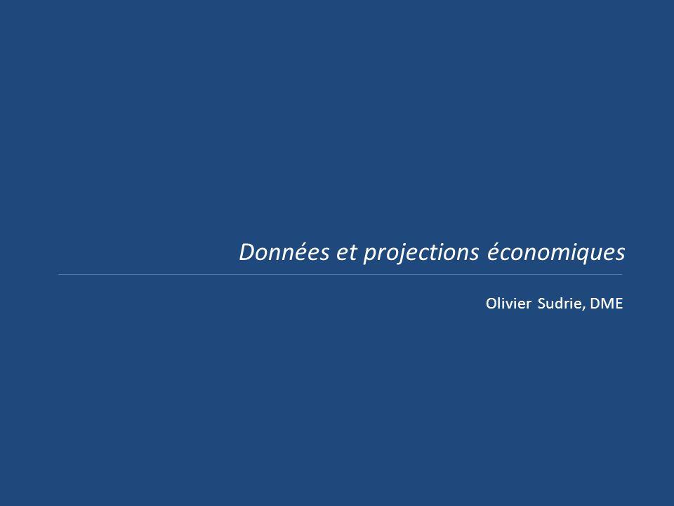 Données et projections économiques Olivier Sudrie, DME