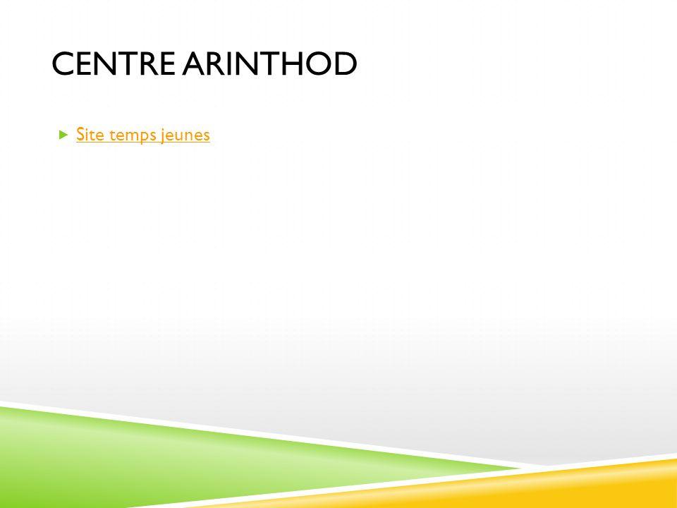 CENTRE ARINTHOD Site temps jeunes