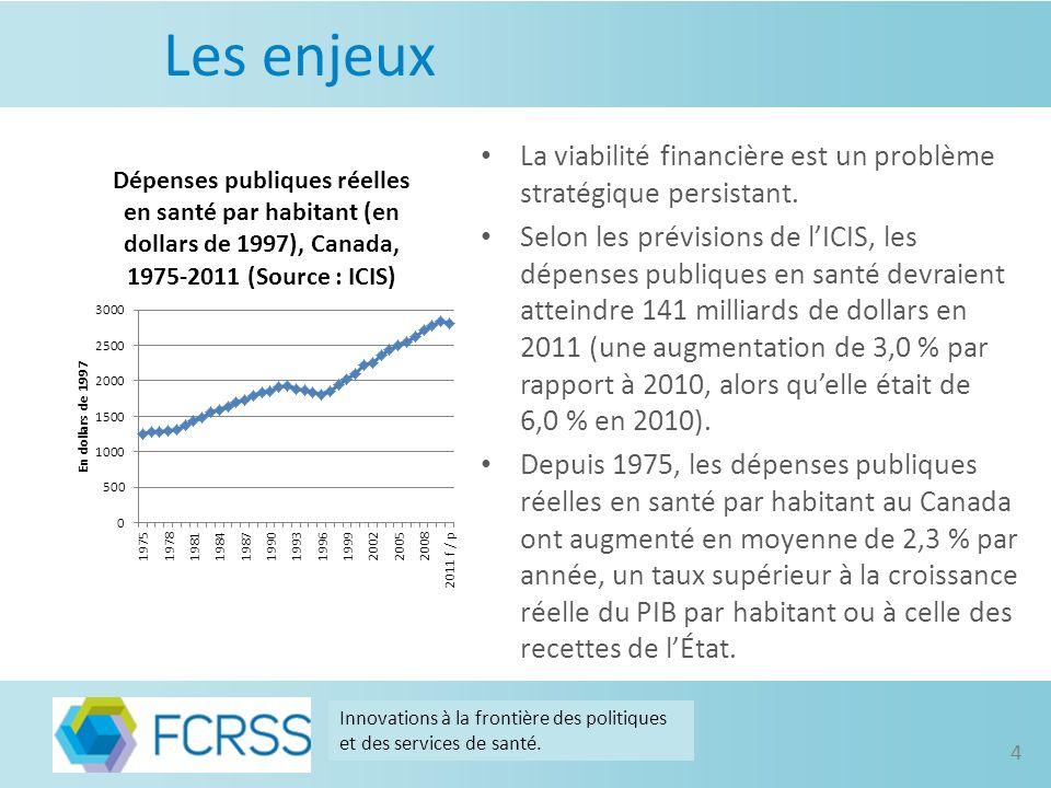 Les enjeux La viabilité financière est un problème stratégique persistant.