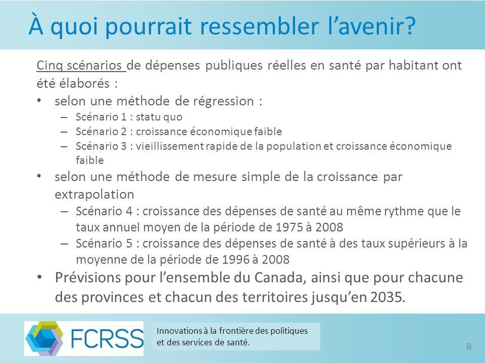 Canada Innovations à la frontière des politiques et des services de santé. 9