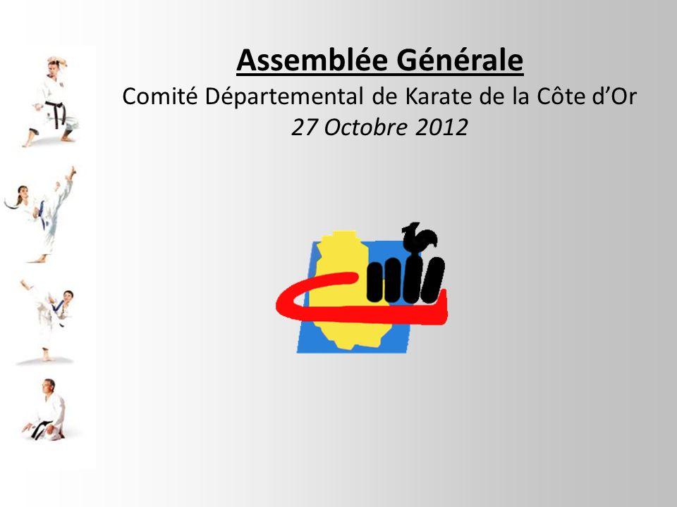 Assemblée Générale Comité Départemental de Karate de la Côte dOr 27 Octobre 2012