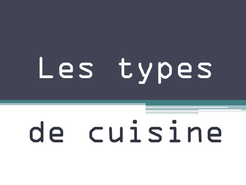 Les types de cuisine