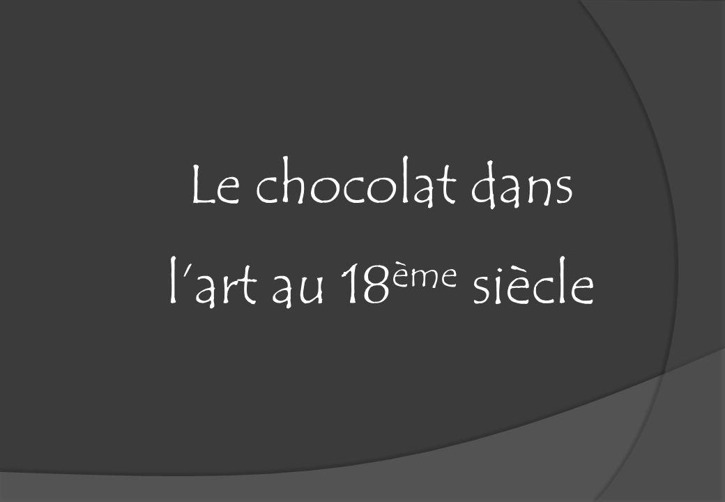 Le chocolat dans lart au 18 ème siècle