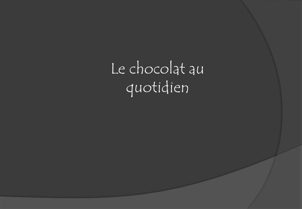 Le chocolat au quotidien