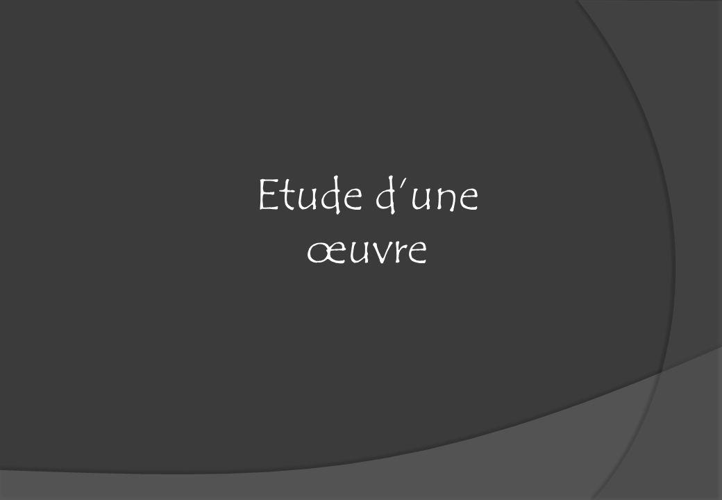 Etude dune œuvre