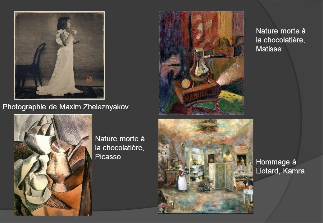 Photographie de Maxim Zheleznyakov Hommage à Liotard, Kamra Nature morte à la chocolatière, Picasso Nature morte à la chocolatière, Matisse