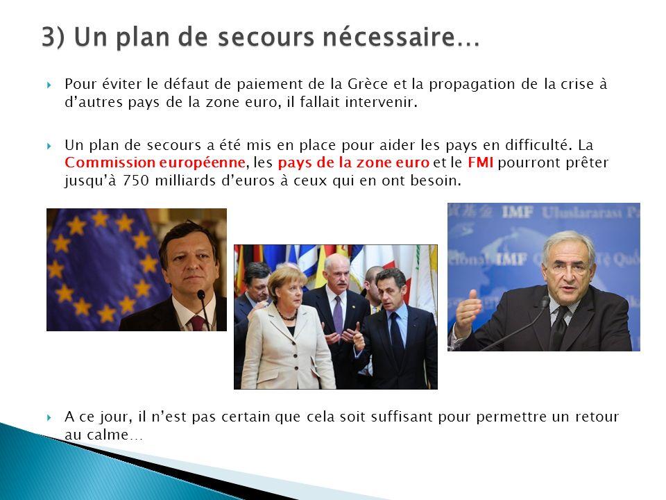 Pour éviter le défaut de paiement de la Grèce et la propagation de la crise à dautres pays de la zone euro, il fallait intervenir.