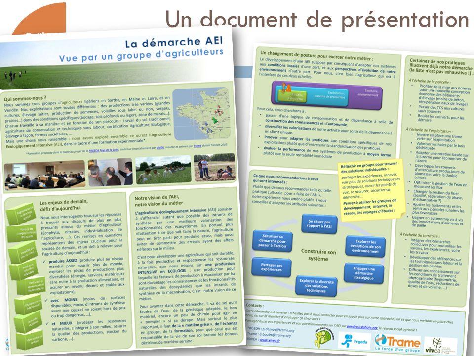 Un document de présentation 11