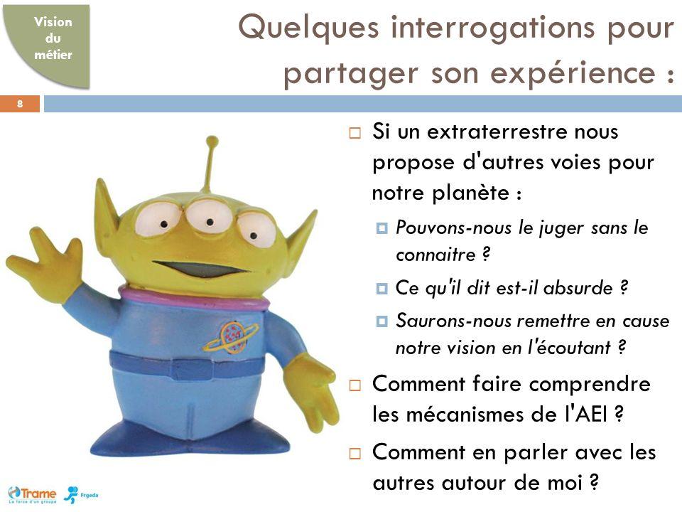 Quelques interrogations pour partager son expérience : 8 Si un extraterrestre nous propose d autres voies pour notre planète : Pouvons-nous le juger sans le connaitre .