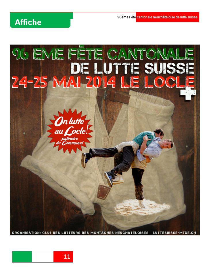 96ème Fête cantonale neuchâteloise de lutte suisse Affiche 11