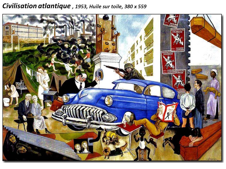 Civilisation atlantique, 1953, Huile sur toile, 380 x 559