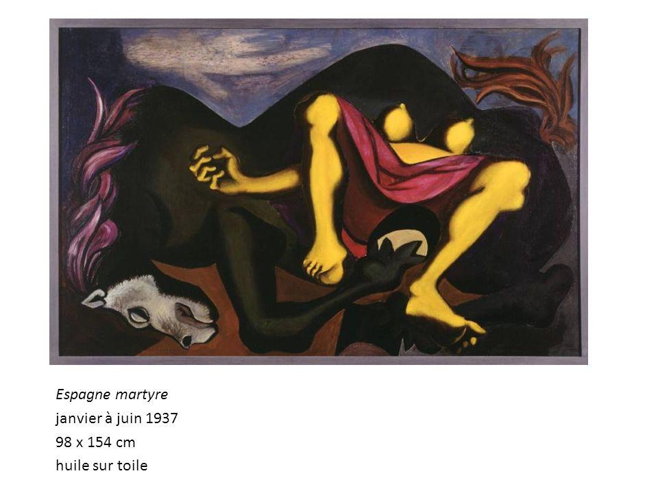 Espagne martyre janvier à juin 1937 98 x 154 cm huile sur toile