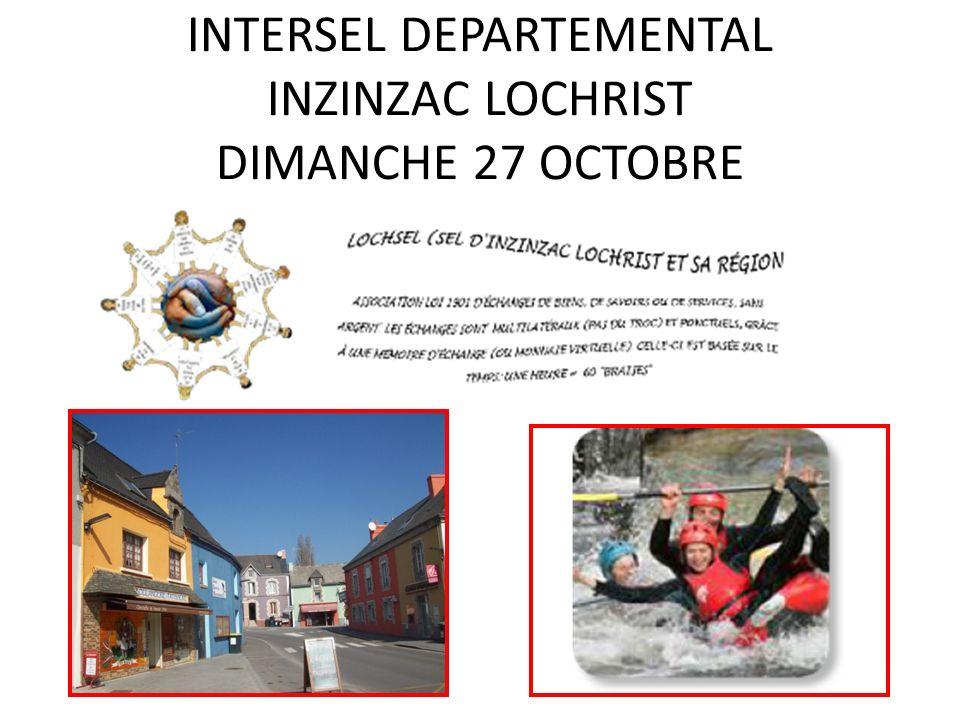 INTERSEL DEPARTEMENTAL INZINZAC LOCHRIST DIMANCHE 27 OCTOBRE
