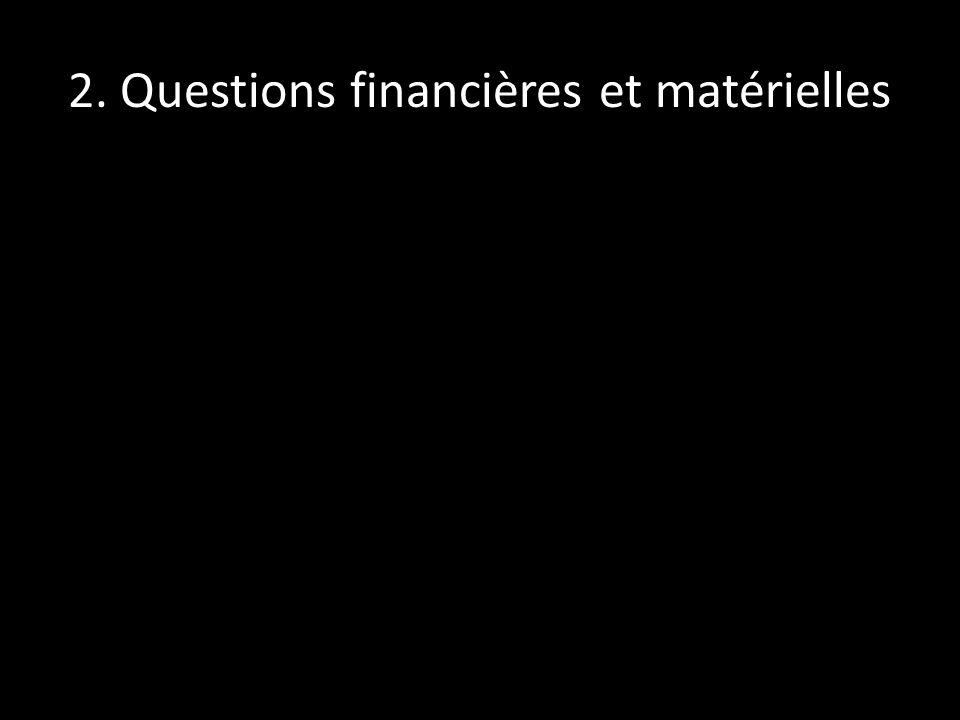 2. Questions financières et matérielles