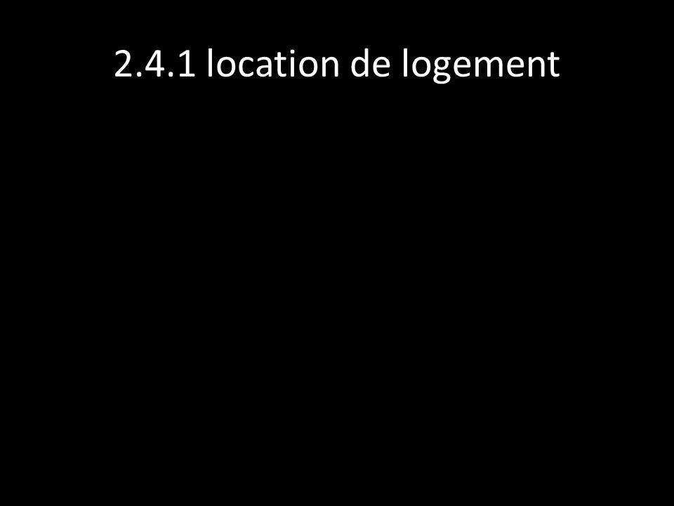 2.4.1 location de logement