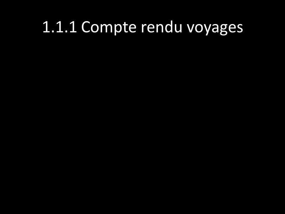 1.1.1 Compte rendu voyages