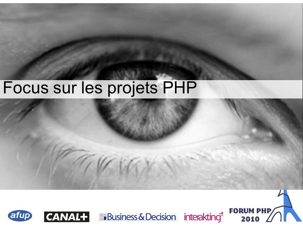 { Focus sur les projets PHP