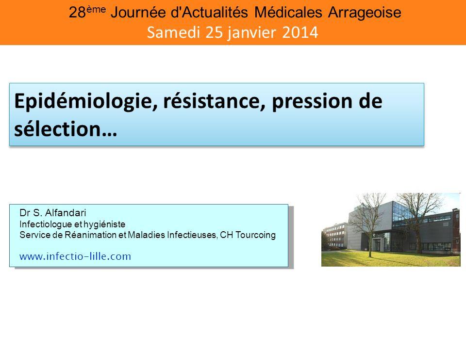 28 ème Journée d'Actualités Médicales Arrageoise Samedi 25 janvier 2014 Dr S. Alfandari Infectiologue et hygiéniste Service de Réanimation et Maladies
