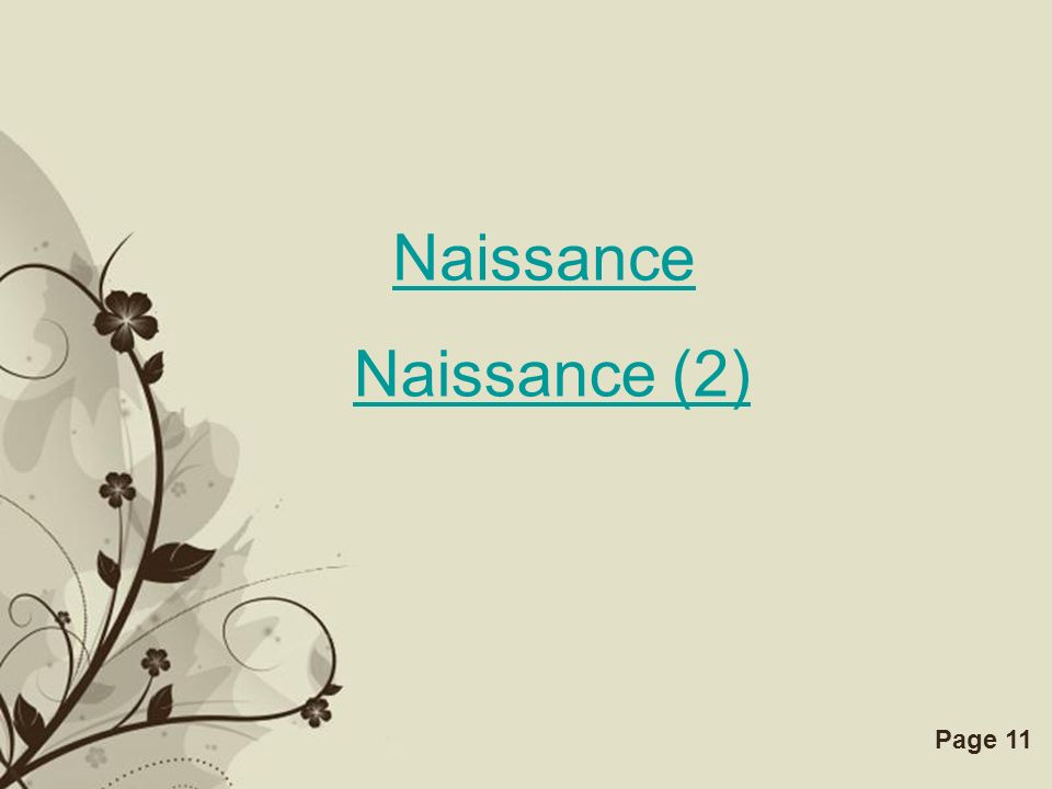 Free Powerpoint TemplatesPage 11 Naissance Naissance (2)