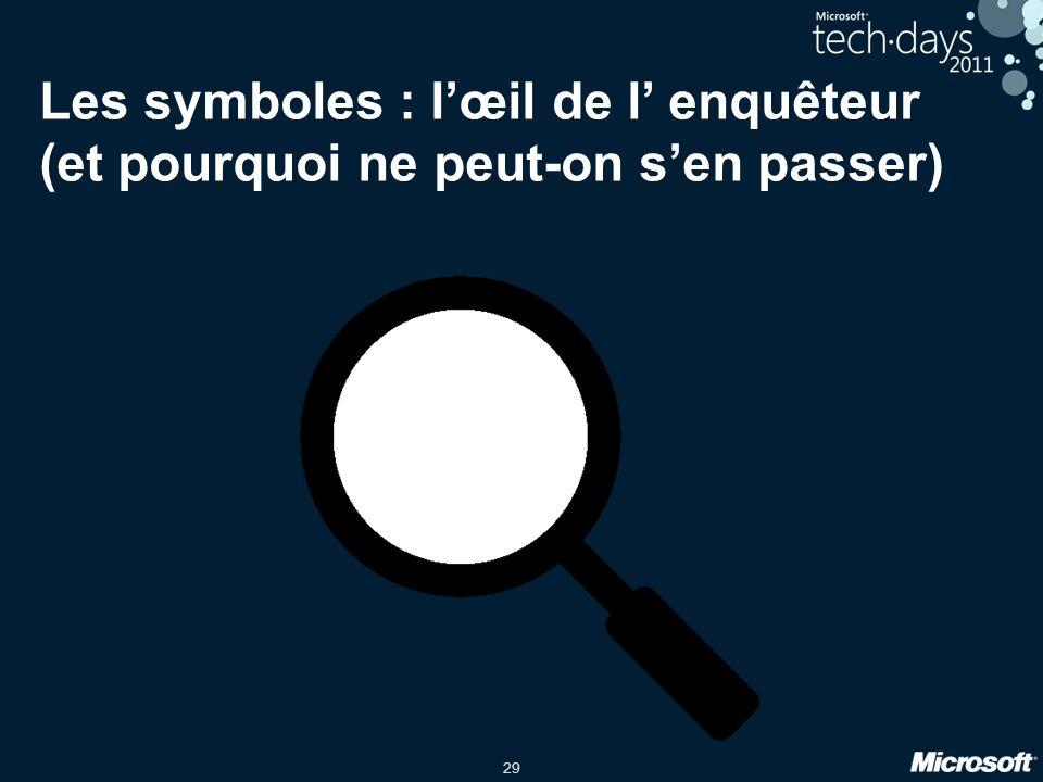 29 Les symboles : lœil de l enquêteur (et pourquoi ne peut-on sen passer)