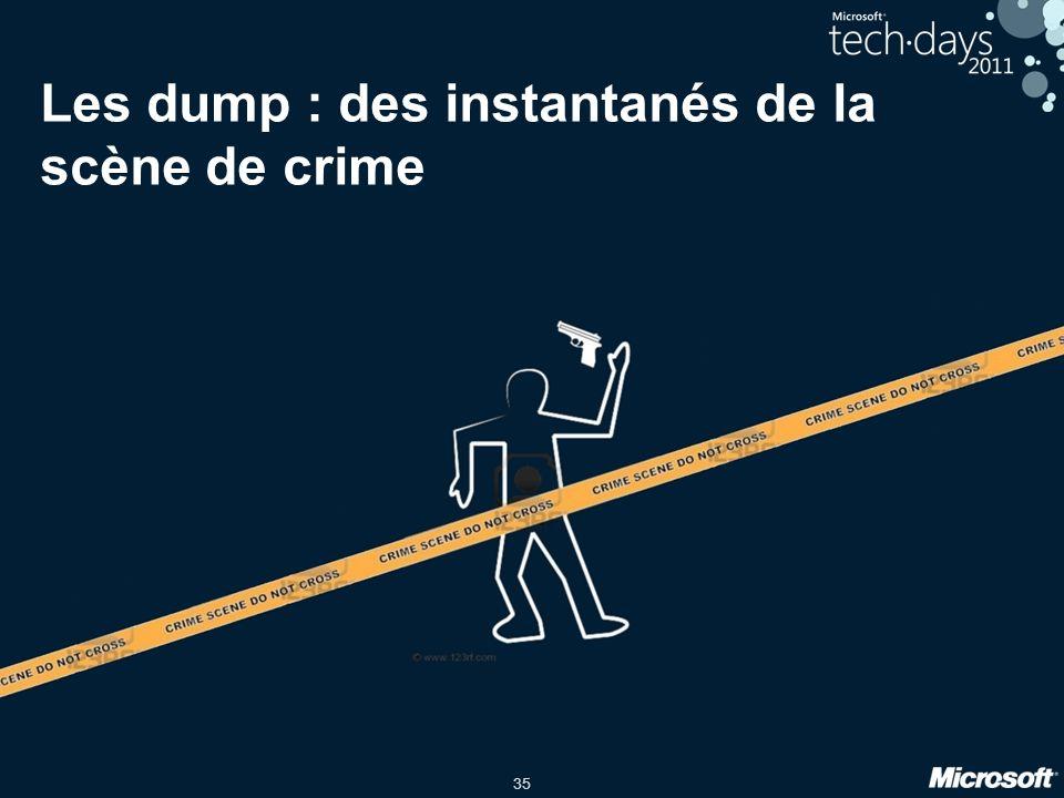 35 Les dump : des instantanés de la scène de crime