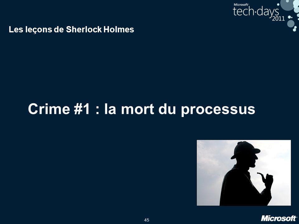 45 Crime #1 : la mort du processus Les leçons de Sherlock Holmes