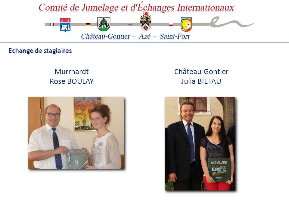 Murrhardt Rose BOULAY Echange de stagiaires Château-Gontier Julia BIETAU