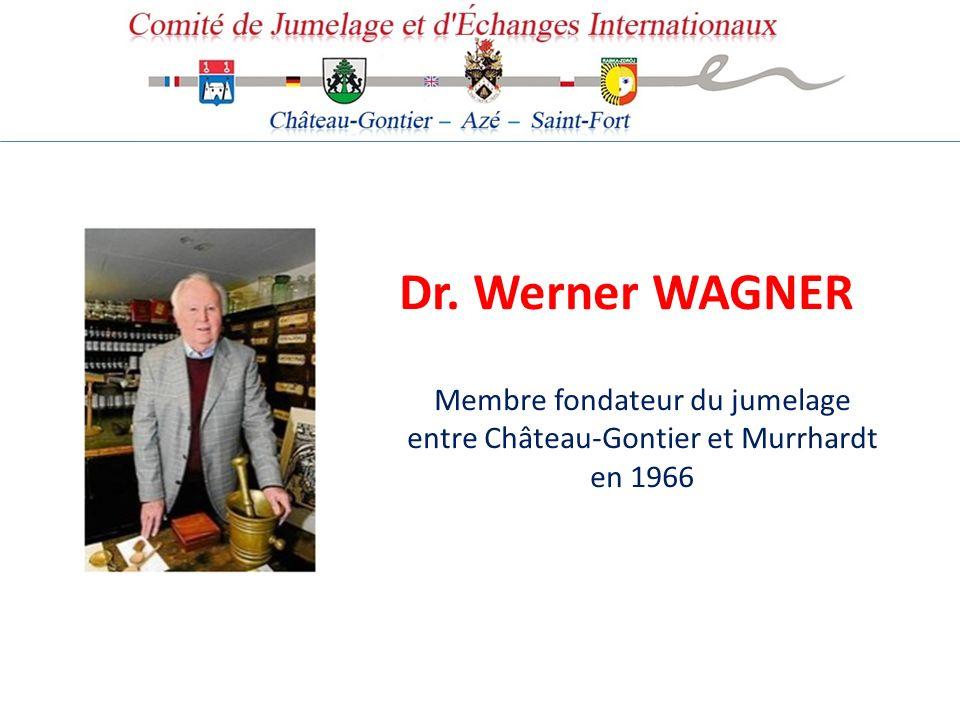 Dr. Werner WAGNER Membre fondateur du jumelage entre Château-Gontier et Murrhardt en 1966