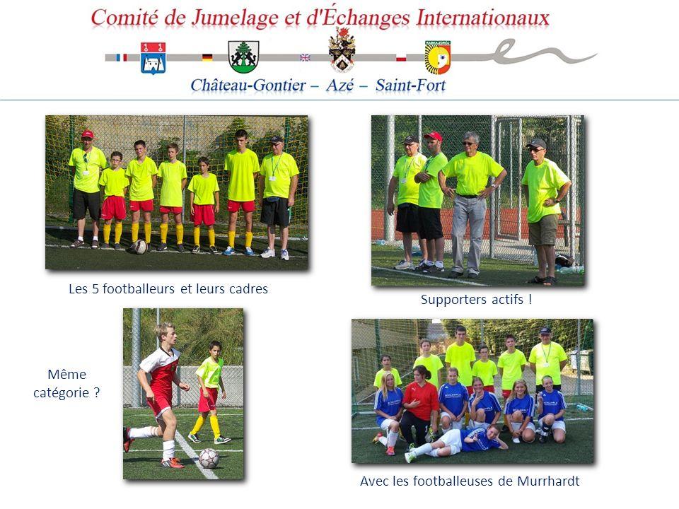 Les 5 footballeurs et leurs cadres Même catégorie ? Supporters actifs ! Avec les footballeuses de Murrhardt