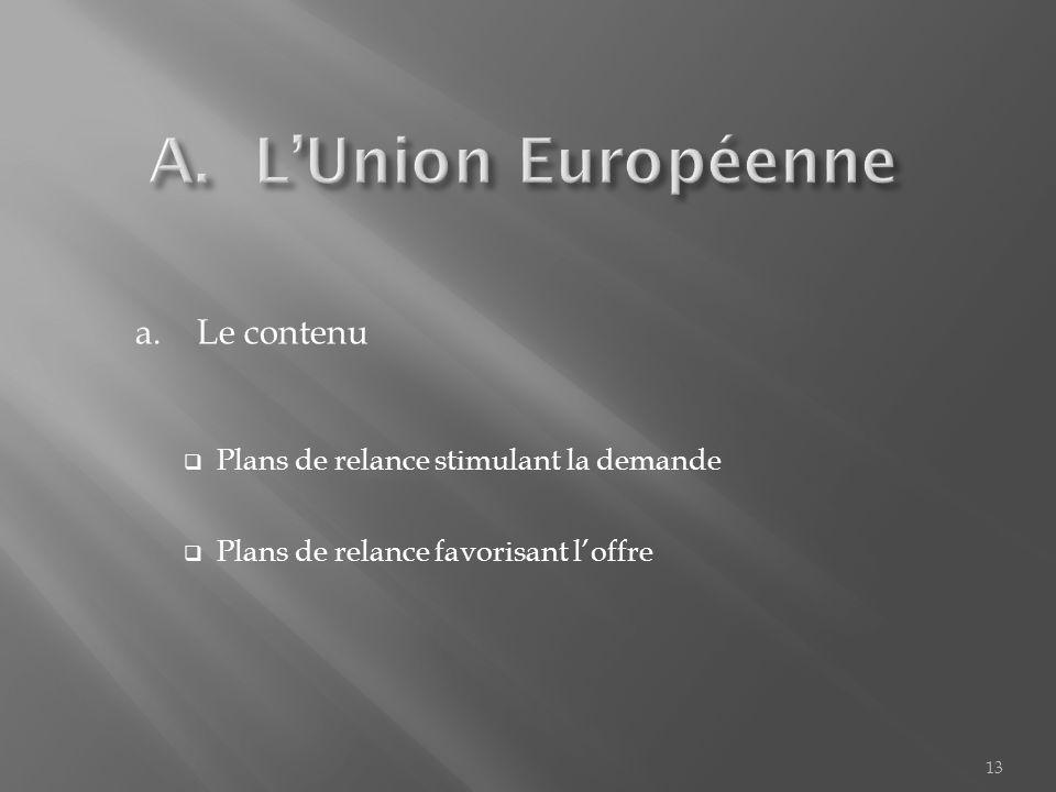 A. LUnion Européenne B.Les Etats - Unis C.Les pays asiatiques 12