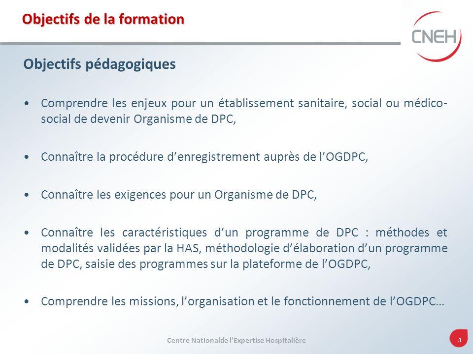 74 Centre Nationale de lExpertise Hospitalière Connaître la procédure denregistrement auprès de lOGDPC