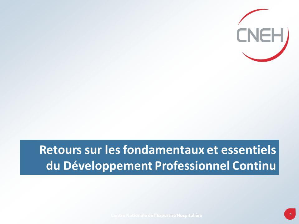 4 Centre Nationale de lExpertise Hospitalière Retours sur les fondamentaux et essentiels du Développement Professionnel Continu