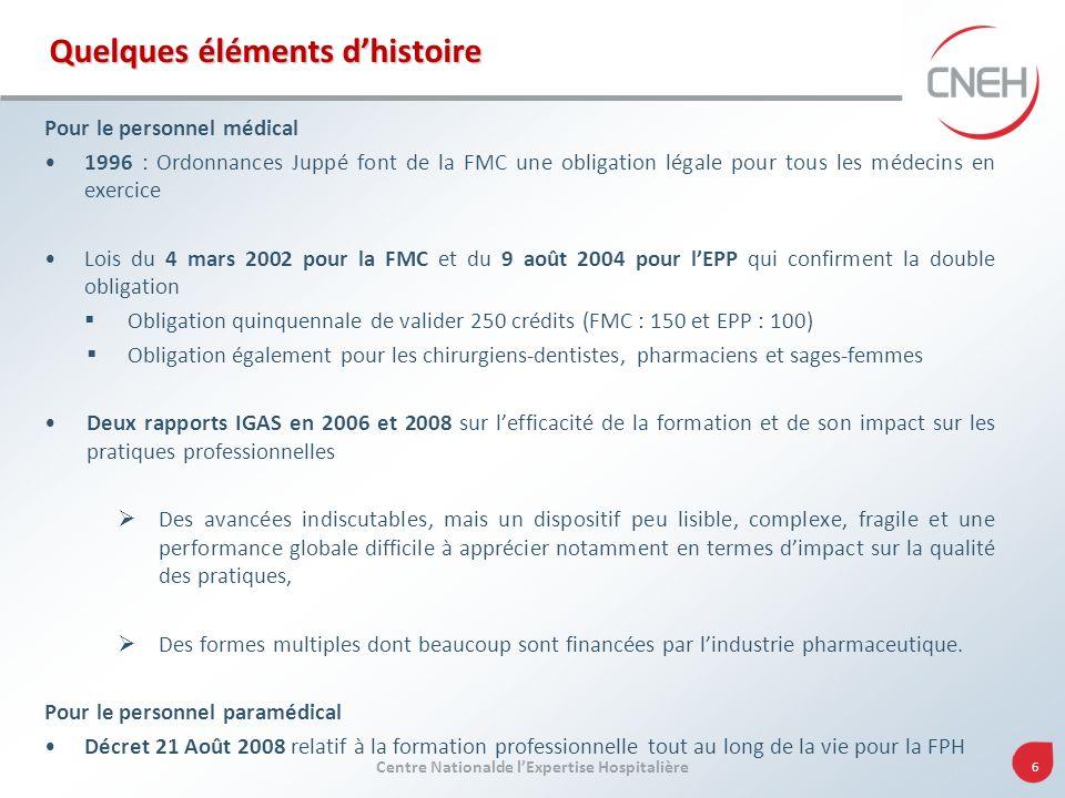Centre Nationalde lExpertise Hospitalière 7 Le DPC Pourquoi .