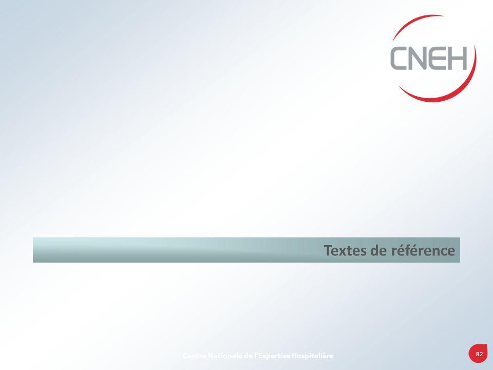 82 Centre Nationale de lExpertise Hospitalière Textes de référence