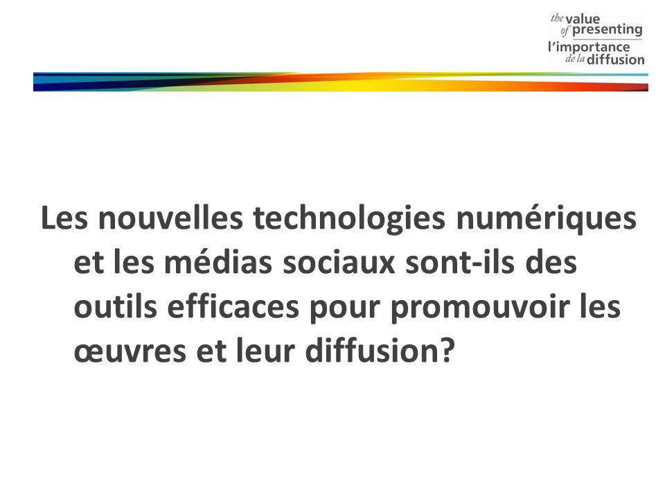 Les nouvelles technologies numériques et les médias sociaux sont-ils des outils efficaces pour promouvoir les œuvres et leur diffusion