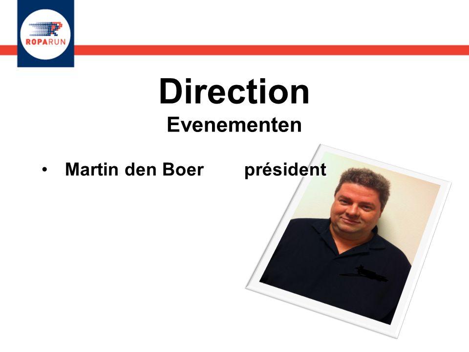 Direction Evenementen Martin den Boer Président Judith Somers secrétaire Martin den Boer Président Judith Somers secrétaire