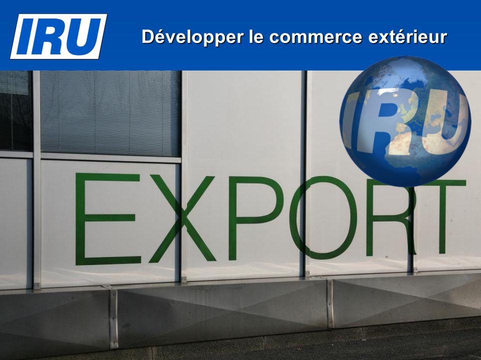 Page 22 Développer le commerce extérieur