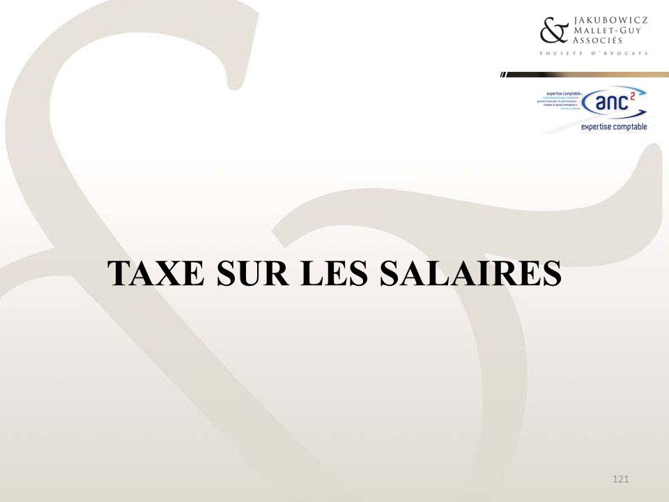 TAXE SUR LES SALAIRES 121