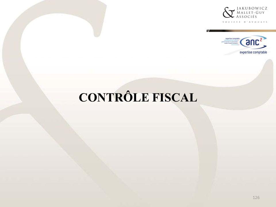 CONTRÔLE FISCAL 126
